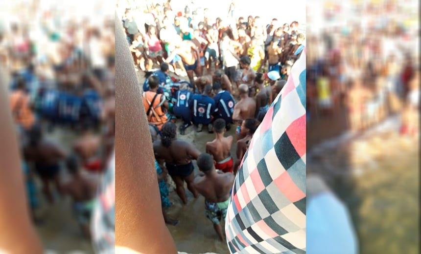 Vídeo  Homem morre ao pular de pedra na praia em Salvador  Veja ... b1a3b10ca98b9